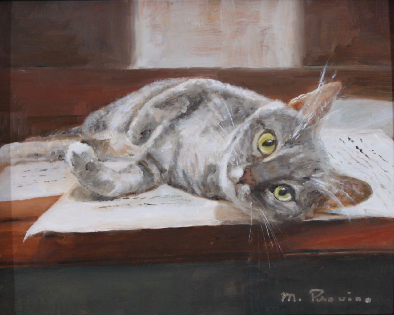 Sebastian cat painting