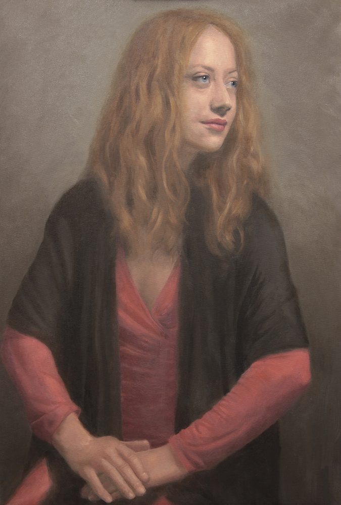Woman portrait painting